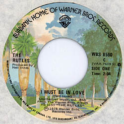 A-Side Label of Canadian Single